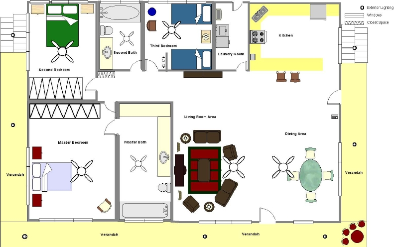 Floor plans for homes in puerto rico home plan for House plans puerto rico